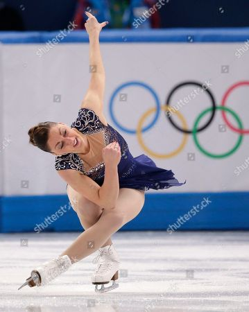 Stock Photo of Jenna McCorkell of Britain competes in the women's short program figure skating competition at the Iceberg Skating Palace during the 2014 Winter Olympics, in Sochi, Russia