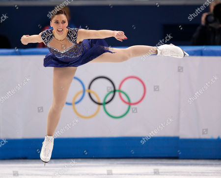 Stock Picture of Jenna McCorkell of Britain competes in the women's short program figure skating competition at the Iceberg Skating Palace during the 2014 Winter Olympics, in Sochi, Russia