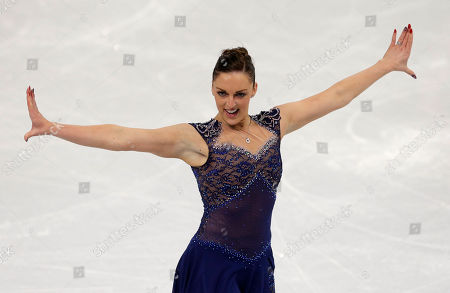 Jenna McCorkell of Britain competes in the women's short program figure skating competition at the Iceberg Skating Palace during the 2014 Winter Olympics, in Sochi, Russia