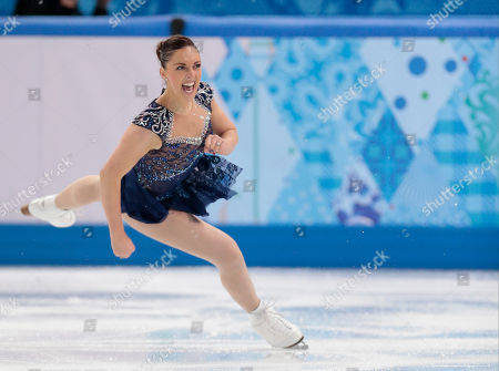 Stock Image of Jenna McCorkell of Britain competes in the women's short program figure skating competition at the Iceberg Skating Palace during the 2014 Winter Olympics, in Sochi, Russia