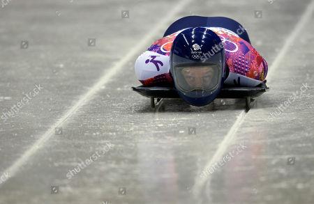 Editorial image of Sochi Olympics Skeleton Men, Krasnaya Polyana, Russia