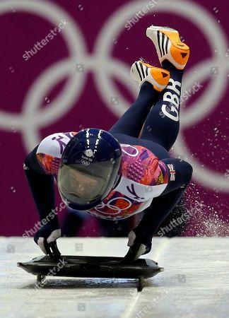 Editorial photo of Sochi Olympics Skeleton Men, Krasnaya Polyana, Russia