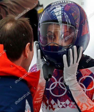 Editorial photo of Sochi Olympics Skeleton Women, Krasnaya Polyana, Russia