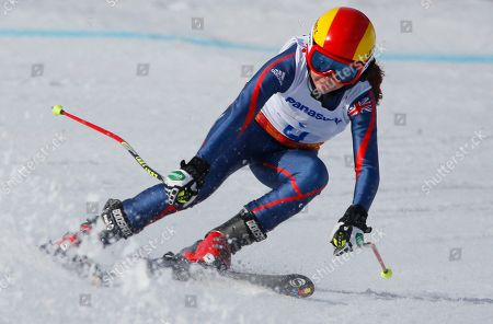 Jade Etherington Great Britain's Jade Etherington races to win her silver medal in the women's downhill, visually impaired event at the 2014 Winter Paralympic, in Krasnaya Polyana, Russia