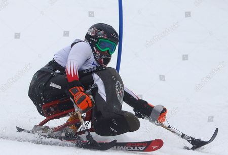 Claudia Loesch Claudia Loesch of Austria races during women's super combined, slalom, sitting event at the 2014 Winter Paralympic, in Krasnaya Polyana, Russia
