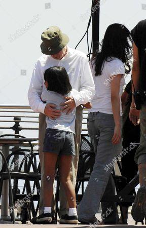 Woody Allen and daughter Manzie Tio