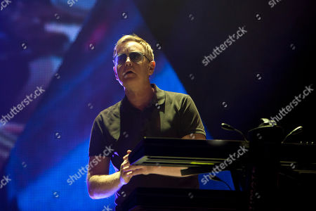 Andrew Fletcher Keyboarder Andrew Fletcher from the British band Depeche Mode performs at Palacio de los Deportes in Madrid, Spain