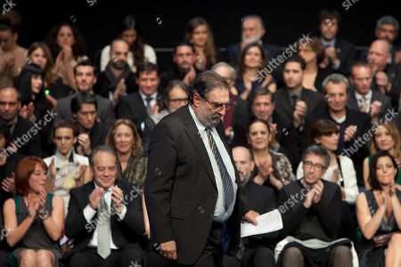 Enrique Gonzalez Macho President of the Spanish Academy of Cinema Enrique Gonzalez Macho walks ahead of the nominees during the Gala of Nominees to Goya Awards 2014 in Madrid, Spain