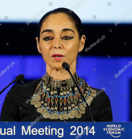Shirin Neshat American Iranian born artist Shirin Neshat speaks during the Crystal award ceremony at the eve of the opening of the World Economic Forum in Davos, Switzerland, . The world's financial and political elite will head this week to the Swiss Alps for 2014's gathering of the World Economic Forum at the Swiss ski resort of Davos