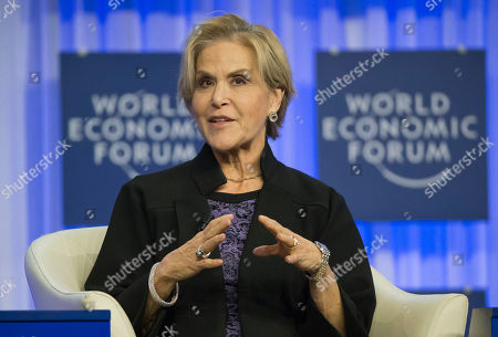 Judith Rodin President of the Rockefeller Foundation Judith Rodin, gestures as she speaks during a session at the World Economic Forum in Davos, Switzerland