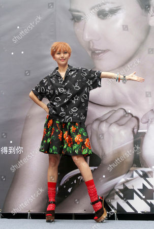 """Stefanie Sun Singapore singer Stefanie Sun poses during a in Taipei, during a media event to promo her new album """"Kepler"""" in Taipei, Taiwan"""