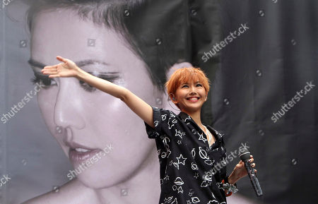 "Stefanie Sun Singapore singer Stefanie Sun smiles during a in Taipei, a media event to promo her new album ""Kepler"" in Taipei, Taiwan"