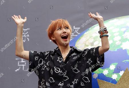 "Stefanie Sun Singapore singer Stefanie Sun smiles during a media event to promo her new album ""Kepler"" in Taipei, Taiwan"