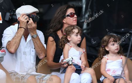 Eric Clapton with wife Melia McEnery and two of their daughters