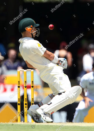 David Warner Australia's David Warner ducks under a bouncer bowled by England's Chris Tremlett on the first day of the series-opening Ashes test between England and Australia at the Gabba in Brisbane, Australia