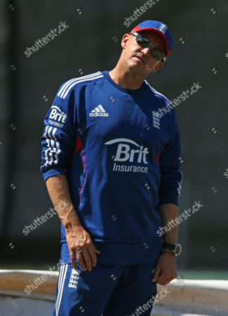 Andy Flower England's cricket coach Andy Flower stretches his neck during training in Hobart in Tasmania, Australia, . England will play Australia A in a 4-day tour match from Wednesday