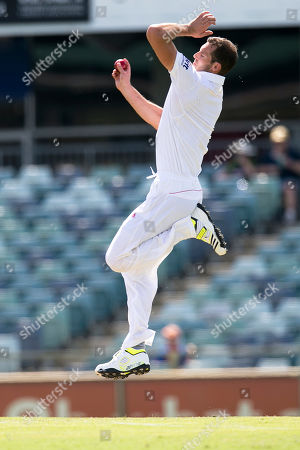 England's Chris Tremlett bowls in the 2nd innings on day 3 of their tour cricket match against Western Australia Chairman's XI in Perth, Australia