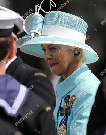 Quentin Bryce Australia's Governor-General Quentin Bryce inspects the Guard of Honor at Garden Island Naval base in Sydney, Australia, before sailing on HMAS Leeuwin to view the International Fleet Review. The review, essentially a parade of ships, commemorates the arrival of the original Royal Australian Navy fleet a century ago. About 40 warships, 16 tall ships and 8,000 sailors are participating in this weekend's celebrations, which will feature a light show and massive fireworks display over the harbor Saturday night
