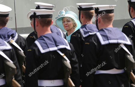 Quentin Bryce Australia's Governor-General Quentin Bryce, center, inspects the royal guard at Garden Island Naval base in Sydney, Australia, before sailing on HMAS Leeuwin to view the International Fleet review. Britain's Prince Harry glided through Sydney's sun-dappled harbor aboard the navy ship on Saturday, as thousands of people crowded the shoreline to catch a glimpse of royalty and celebrate the centenary of the fledgling Australian navy fleet's first arrival to the famed waterway. Bryce joined Harry on board the Leeuwin to officially review the ships