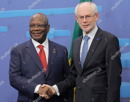 Herman Van Rompuy, Dioncounda Traore European Council President Herman Van Rompuy, right, welcomes Mali's President Dioncounda Traore, prior to their talks at the European Council building in Brussels, . Traore is on a visit to meet with various EU and Belgian officials