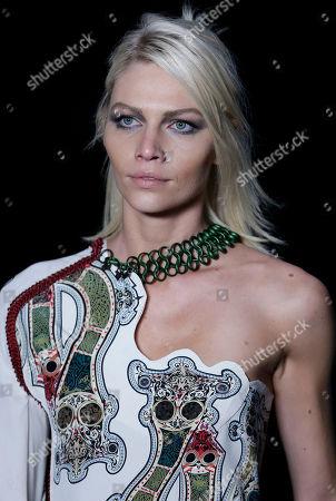 Aline Weber Brazilian model Aline Weber wears a creation from Animale Winter collection during the Sao Paulo Fashion Week in Sao Paulo, Brazil