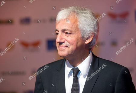 """Thierry Ragobert French Director Thierry Ragobert poses for photos as he arrives for the premiere of his film """"Amazonia"""" at the opening of the Rio de Janeiro Film Festival in Rio de Janeiro, Brazil"""