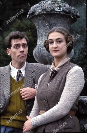 Stock Picture of 'Jeeves and Wooster' - - Bertie Wooster [Hugh Laurie] and Honoria Glossop [Elizabeth Kettle]