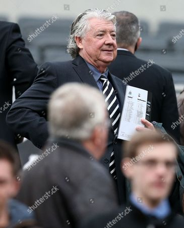Stock Image of Joe Kinnear Newcastle United's director of football Joe Kinnear looks on from the stand during their English Premier League soccer match against Southampton at St James' Park, Newcastle, England
