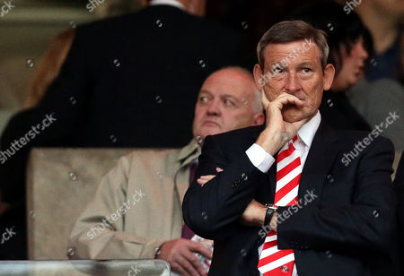 Sunderland's owner Ellis Short, looks on from the stand ahead of their English Premier League soccer match against Manchester United at the Stadium of Light, Sunderland, England