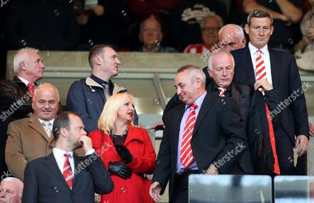 Ellis Short Sunderland's owner Ellis Short, top right, looks on from the stand ahead of their English Premier League soccer match against Manchester United at the Stadium of Light, Sunderland, England