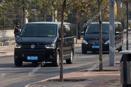 A convoy of vehicles believed to be carrying ousted Chinese politician Bo Xilai head to Shandong Provincial Higher People's Court in Jinan, in eastern China's Shandong province, . The court said earlier this week in a notice on its website that Bo's appeal will be heard Friday morning