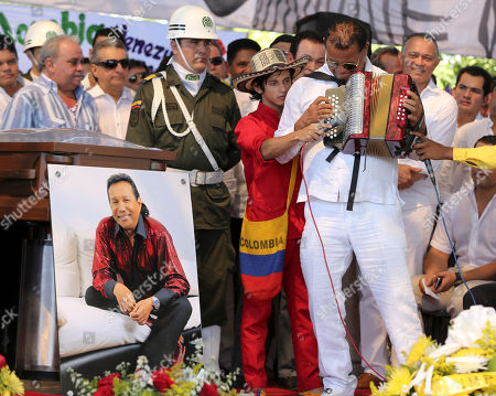 Editorial picture of Colombia Diomedes Diaz Funeral, Valledupar, Colombia