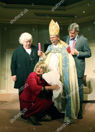 Carol Macready (Frau Flugelhammerlein), Roderick Smith (Archbishop), James Fleet (Philip Wardrobe) and Anna Francolini (Beatrice)