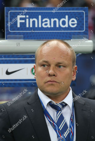 Mixu Paatelainen Finland's coach Mixu Paatelainen is seen prior to the kick off of a group I World Cup qualifying soccer match between France and Finland, at the Stade de France stadium in Saint Denis, outside Paris