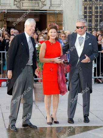 Princess Margarethe of Liechtenstein, Prince Nikolaus of Liechtenstein, Prince Laurent of Belgium Princess Margarethe of Liechtenstein, Prince Nikolaus of Liechtenstein, left, and Prince Laurent of Belgium arrive for the religious wedding of Prince Felix of Luxembourg and his wife Claire Lademacher in Saint-Maximin-La-Sainte-Baume, southern France