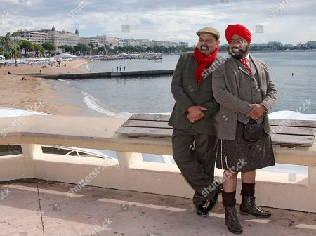 "Indian chefs Cyrus Todiwala, left, and Tony Singh pose during a photocall at the 29th MIPCOM (International Film and Programme Market for Tv, Video,Cable and Satellite) in Cannes, southeastern France, . Cyrus Todiwala and Tony Singh present at the MIPCOM, their tv series ""The Incredible Spice Men"