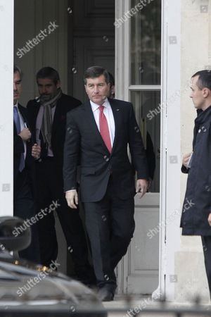 U.S Ambassador to France Charles H. Rivkin, right, leaves the Foreign Ministry in Paris, after he was summoned . The French government had summoned the ambassador to explain why the Americans spied on one of their closest allies. Le Monde newspaper said Monday, Oct. 21, 2013 that documents leaked by Edward Snowden show that the U.S. National Security Agency swept up 70.3 million French phone records in a 30-day period