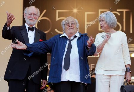 "Georges Lautner Shows French film director Georges Lautner, centre, gesturing as he arrives for the screening of The Paperboy at the 65th international film festival, in Cannes, southern France. Georges Lautner, has died aged 87 it was announced . . Of the dozens of films he made, ""Les Tontons Flingeurs,"" which appeared as ""Monsieur Gangster"" for Anglophone audiences, was perhaps the most beloved. Standing at left is Gaumont chairman Nicolas Seydoux, and at right Georges Lautner's companion Martine"