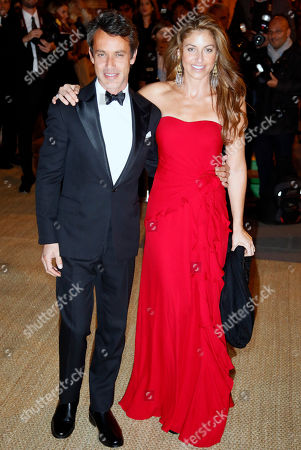 "Dylan Lauren, right, and Andrew Lauren the children of designer Ralph Lauren arrive for their father's collection show and private dinner at Paris ""Les Beaux-Arts"" School in Paris, France, . Ralph Lauren celebrates the restoration project and patron sponsorship of L'Ecole des Beaux-Arts"