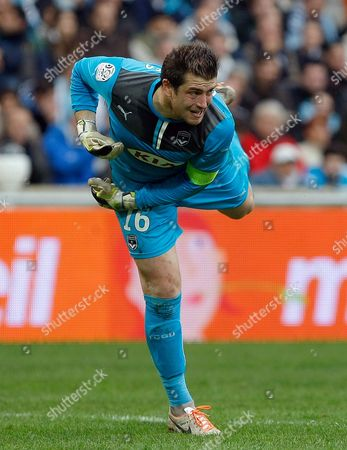 Stock Photo of Cedric Carrasso Bordeaux's French goalkepper Cedric Carrasso, in action during their League One soccer match against Marseille, at the Velodrome Stadium, in Marseille, southern France