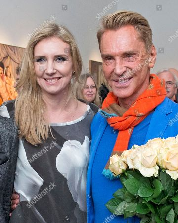 Wolfgang Joop, Jette Joop The fashion designer and artist Wolfgang Joop smiles beside his daughter Jette Joop during the opening event of the exhibition 'Beauty and the Beast - Richard Mueller and Mel Ramos at the Museum of the Fine Arts (Museum der bildenden Kuenste) in Leipzig, central Germany, . The exhibition starts on Oct. 13, 2013 and last until Jan. 12, 2014