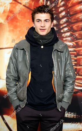 """Stock Image of German actor Samuel Schneider arrives for the Germany premiere of the movie """"The Hunger Games: Catching Fire"""" in Berlin, Germany"""
