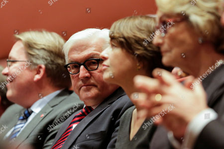Frank-Walter Steinmeier Former German Foreign Minister Frank-Walter Steinmeier, 2. from left, attends the awarding ceremony of the the Willy-Brandt-Prize at the Norwegian embassy in Berlin, Germany, . Frank-Walter Steinmeier and his former counterpart Norway's Jonas Gahr Store were awarded with the prize by the Norwegian-German Willy-Brandt-Foundation in merit of their work for the German-Norwegian relationship