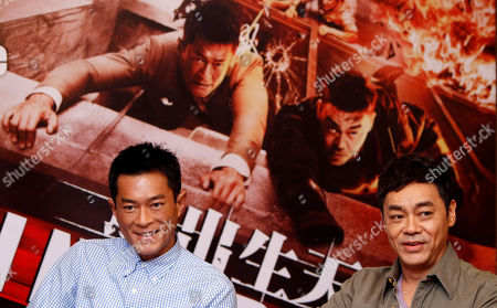 "Sean Lau, Louis Koo Hong Kong actors Sean Lau, right, and Louis Koo smile during a press conference to promote their latest film ""Inferno"" in Petaling Jaya, near Kuala Lumpur, Malaysia. The 10th annual Hong Kong Asia Film Festival, which a lineup was unveiled, opens later this month with the world premiere of Benny Chan's ""The White Storm,"" a classic cop thriller reminiscent of the days of John Woo's ""A Better Tomorrow"" and which stars three of Hong Kong's most prolific actors - Sean Lau, Louis Koo and Nick Cheung"