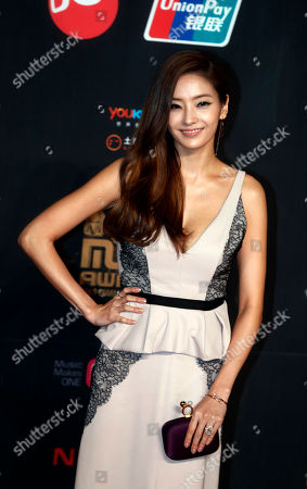 Han Chae-young South Korean actress Han Chae-young poses for photographers on the red carpet of the Mnet Asian Music Awards in Hong Kong