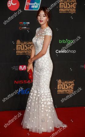 Han Ji-hye South Korean actress Han Ji-hye poses for photographers on the red carpet of the Mnet Asian Music Awards in Hong Kong