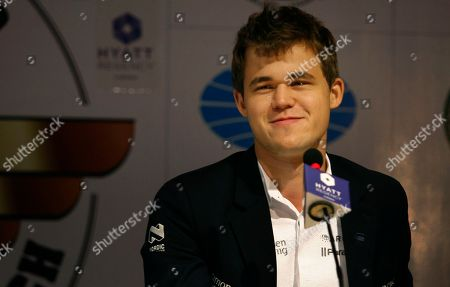 Magnus Carlsen Norway's Magnus Carlsen interacts with the media after a match against reigning world chess champion Viswanathan Anand of India during the Chess world championship match in Chennai, India, . Carlson, 22, is the top Western player since Bobby Fischer in a game that has traditionally been dominated by Russians, and chess enthusiasts hope his mass-market appeal can win over new fans and help boost interest worldwide