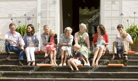 Prince Gustav of Berleburg, Carina Axelsson, Countess Ingrid Alexandra zu Sayn-Wittgenstein Berleburg, Princess Benedikte, Count Richard zu Sayn-Wittgenstein Berleburg, Queen Margrethe, Princess Mary, Princess Isabella, Prince Frederik and Prince Christian