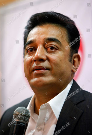 Kamal Haasan Indian actor and filmmaker Kamal Haasan listens to a question during a press conference in Bangalore, India, . Haasan, 58, has won several awards in his 53-year career working in more than 200 movies after making his debut as a child actor in 1959