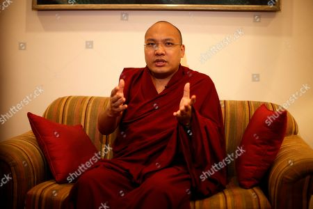 """Karmapa Ogyen Trinley Dorje Tibetan spiritual leader the 17th Karmapa Ogyen Trinley Dorje speaks to the Associated Press about the role of world citizens in environmental protection, in New Delhi, India, . The Karmapa is in the city to address the 5th Khoryug Conference on Environmental Protection for Tibetan Buddhist Monasteries and Nunneries. The organisers say the conference """"aims to educate monks and nuns in environmental science, and to develop self-reliance within Buddhist institutions"""